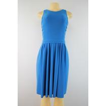 Folding Vestido Sem Mangas Ralph Lauren No Azul Joelho
