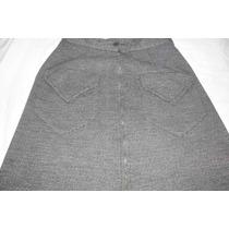 Saia Em Lãzinha - Tam 48 C/bolsos E Ziper Frontal