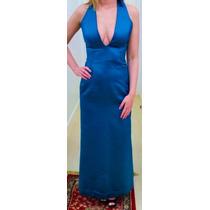 Vestido Longo Gala Azul Petróleo