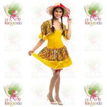 Vestido Junino Infantil Caipira ° Festa Junina ° Balancê Am