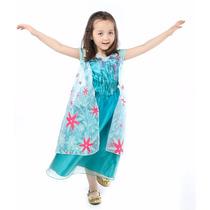 Fantasia Vestido Frozen Fever Elsa Ideal Para Dia Das Crianç