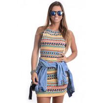 Vestido Estampado Etnico - Kam Bess - Ve0574