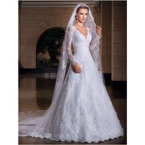 Vestido Noiva Importado Sob Encomenda - Manga Longa Lindo