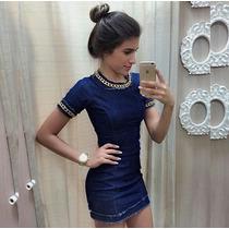 Vestido Jeans Panicat Blogueira