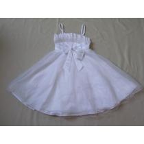 Vestido Infantil Batizado/festa/casamento Branco Tam 8