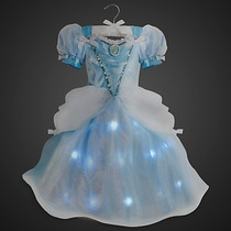Vestido Cinderela C/luz Luxoriginal Da Loja Disney P/entrega