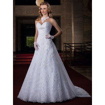 Vestido Noiva Importado Sob Encomenda Cauda Capela Removível