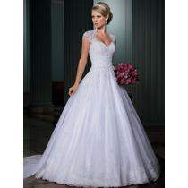 Vestido Noiva Importado Sob Encomenda - Estilo Princesa