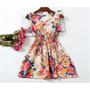 Lindo Vestido Casual Feminino Florido Pronta Entrega
