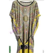 Vestido Seda Estampa Retrô