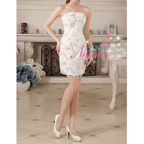 Vestido De Noiva Debutante Curto Novo Pronta Entrega