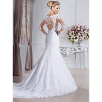 Vestido Noiva Importado Sob Encomenda - Sereia Luxo Apliques