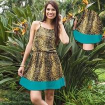 Vestido De Alças Moda Onça Oncinha Leopardo - Promoção