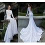 Luxo: Vestido De Noiva Maxi Cauda Em Renda Italiana