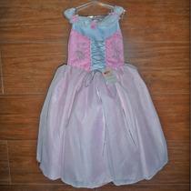 Vestido Dama Rosa Ou Lilás Princesa Aurora Sofia Rapunzel