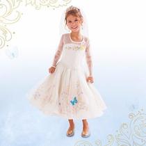 Fantasia Vestido Cinderela Luxo Baile E Noiva Pronta Entrega