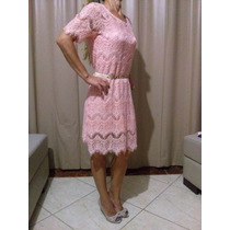 Vestido Esotérica Moda Em Renda Salmão