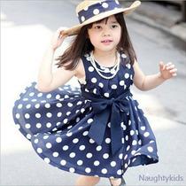 Vestido Infantil Casual Wear Roupa Das Crianças 2 Cores Disp