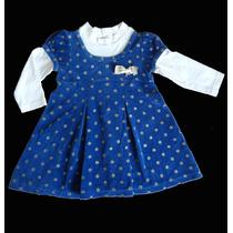 Vestido Bebê Azul Mundi Infantil Usado
