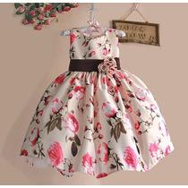 Vestido Criança Florido Festa.