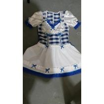 Vestidos Festa Junina Infantil Noiva Azul! 6 Anos