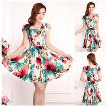 Vestidos Curtos Feminino Plus Size Vintage Moda Verão
