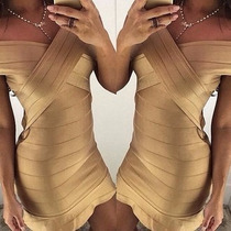 Vestido Bandagem / Bandagem Em X Lindo Fabricação Própria