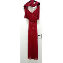 Vestido Social Longo Na Cor Vermelha