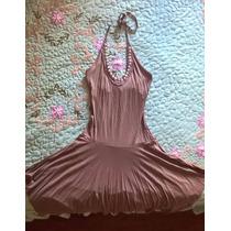 Vestido Godê Simples Viscose/elastano - Tam. P (bege Escuro)