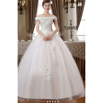 Vestido De Noiva Princesa Com Cristais Com Anagua E Véu