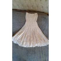 Vestido Branco, Tamanho M, Renda, Bordado, Longuete Perfeito