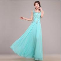 Vestido De Festa Azul Tiffany /madrinha/casamento /formatura