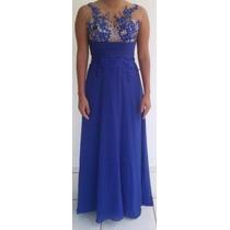Vestido Elegante Azul Royal - Formaturas/casamentos/ Festas