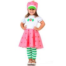 Vestido Fantasia Moranguinho Toddler