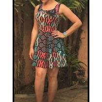 Vestido Feminino Cinturado Curto Verão Estampas Lindas