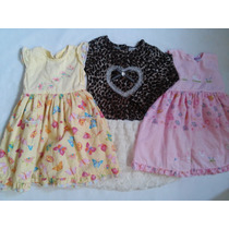Lote Vestido Importado Menina 2/3 Anos