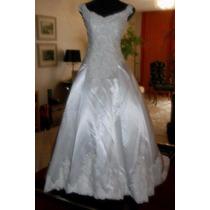 Vestido De Noiva - Center Noivas - Branco Off - Cetim Bucol