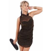 Vestido De Brilho Drapeado - Kam Bess - 021133