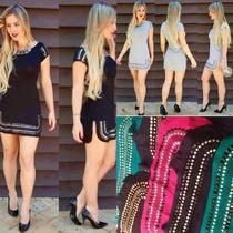 Vestido Feminino Curto Lançamento Verão 2016 Artesanal Luxo