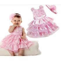 Pronta Entrega Vestido Luxo Festa Infantil Princes Importado
