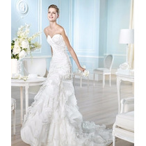 Vestido De Noiva Branco Of White Seda Pura