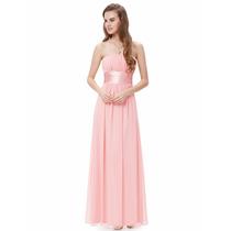 Vestido De Festa Rosa Chá - Pronta Entrega-oferta Dia