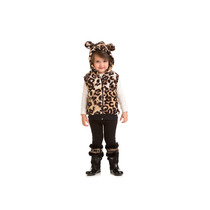 Colete Infantil Inverno Fleece Oncinha Tam 1,2,3