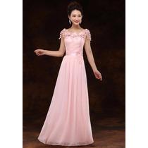 Vestido Rosa/madrinha/casamento/mãe De Noiva/formatura