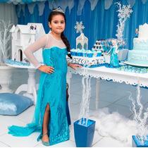 Vestido Elsa Frozen 12 A 14 Anos Pronta Entrega