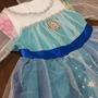 Vestido Fantasia Frozen Elza Azul Com Calda Gelo Tamanho 4/6