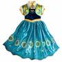 Vestido Fantasia Infantil Frozen Elsa Anna Pronta Entrega