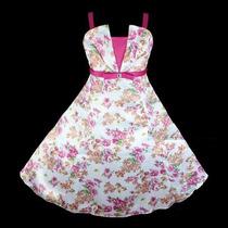 Vestido Infantil Festa/casamento/florista Estampa Flores