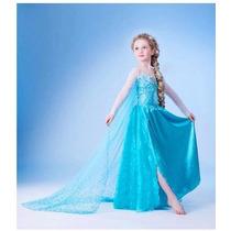 Fantasia Vestido Disney Frozen /elsa Ana Luxo Pronta Entrega