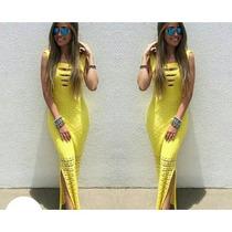 Vestido Longo De Crochê Lindo Veste Super Bem ! Frete 10,00
